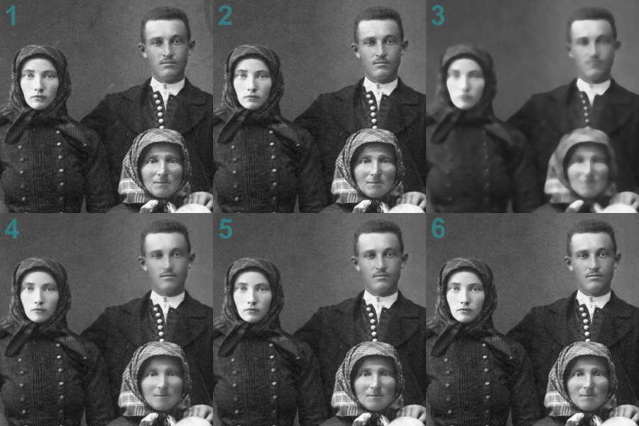 Gesichter schrittweise retuschieren