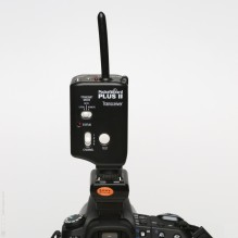 PocketWizard Plus II mit Adapter auf Sony-DSLR