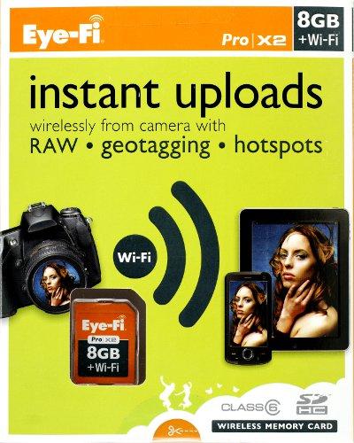 EyeFi Pro X2-Karte, 8GB Platz und WiFi onboard